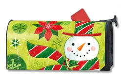 Candy Hat Snowman MailWrap Magnetic Mailbox Cover