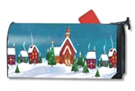Winter Village MailWrap Magnetic Mailbox Cover