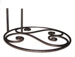 Artisan Forged Garden Flag Patio Base
