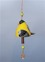Bird Song Ceramic Bell - Goldfinch
