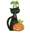 Black Cat Magic Door Decor