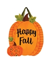 Patterned Pumpkins PVC Door Decor