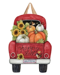 Pumpkin Delivery Door Decor Art