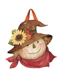 Autumn Scarecrow PVC Door Decor