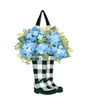 Black and White Wellies PVC Door Decor
