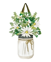Farmhouse Daisies PVC Door Decor