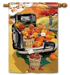 Pumpkin Truck BreezeArt Standard House Flag