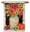 Fall Mason Jars BreezeArt Standard House Flag