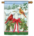 Winter Splendor BreezeArt Standard House Flag