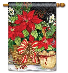 Christmas Beauty BreezeArt Standard House Flag