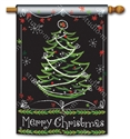 Blackboard Christmas BreezeArt Standard House Flag