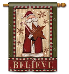 Santa with Star BreezeArt Standard House Flag