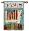 Freedom Sheep BreezeArt Standard House Flag