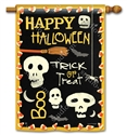 Skeleton Halloween BreezeArt Standard House Flag