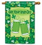 Get Your Irish On BreezeArt Standard House Flag