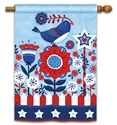 Freedom Fence BreezeArt Standard House Flag