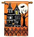Haunted House BreezeArt Standard House Flag