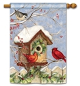 Christmas Birdhouse BreezeArt Standard House Flag