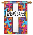 Colorful Crosses BreezeArt Standard House Flag