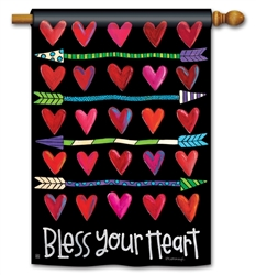 Hearts and Arrows BreezeArt Standard House Flag