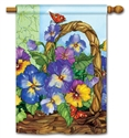 Pansy Basket BreezeArt Standard House Flag