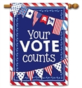 Your Vote Counts BreezeArt Standard House Flag