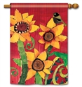 Peace Sunflower BreezeArt Standard House Flag