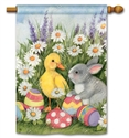 Easter Babies BreezeArt Standard House Flag