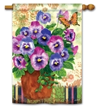 Pretty Pansies BreezeArt Standard House Flag