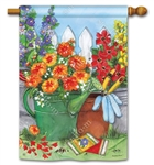 Vintage Watering Can BreezeArt Standard House Flag