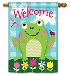 Happy Frog BreezeArt Standard House Flag