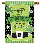 St. Pat's Shamrocks BreezeArt Standard House Flag