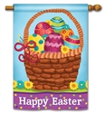 Basket Full of Eggs BreezeArt Standard House Flag
