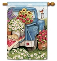 Flower Pickin' Time BreezeArt Standard House Flag