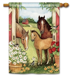 Springtime on the Farm BreezeArt Standard House Flag