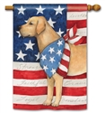 Patriotic Pup BreezeArt Standard House Flag