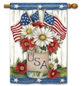 USA Mason Jar BreezeArt Standard House Flag