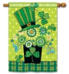 Blooming Irish BreezeArt Standard House Flag