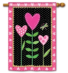 Love Sprouts BreezeArt Standard House Flag