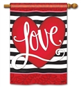 Heart with Stripe BreezeArt Standard House Flag
