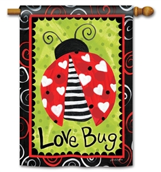 Love Bug BreezeArt Standard House Flag