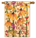All You Need is Love BreezeArt House Flag