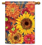 Autumn Toss BreezeArt Standard House Flag