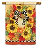 Sunflower Wreath BreezeArt Standard House Flag