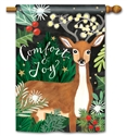 Comfort and Joy BreezeArt Standard House Flag