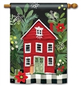 Homespun Christmas BreezeArt Standard House Flag