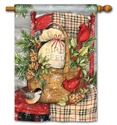 Front Porch Christmas BreezeArt Standard House Flag
