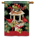 Christmas Dinner BreezeArt Standard House Flag