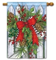 Holiday Garland BreezeArt Standard House Flag