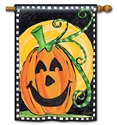 Halloween Is Here BreezeArt Standard House Flag